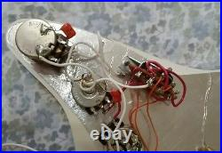 Strat Plus Loaded Pickguard, Triple Gold Lace Sensors,'93, Excellent! Fender USA