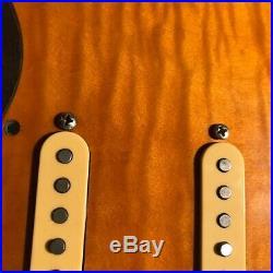 Stratocaster Strat Flamed Maple Loaded Pickguard- Noiseless Pickups- SHIPS FREE