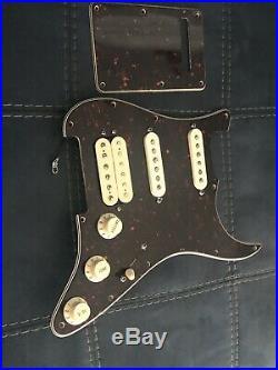 USA Fender Deluxe HSS Strat LOADED PICKGUARD NOISELESS Strat DH-1 Humbucker