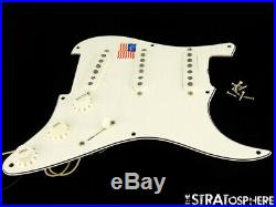 USA Fender ERIC JOHNSON Strat LOADED PICKGUARD Stratocaster Parchment 3 Ply