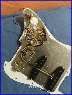 Used Fender ShawBucker Loaded HSS Strat Pickguard Fat 50s Pickups Sweet