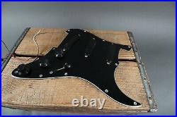 Vintage 1986 EMG Active Strat Single Coil Pickups Loaded Pickguard Black